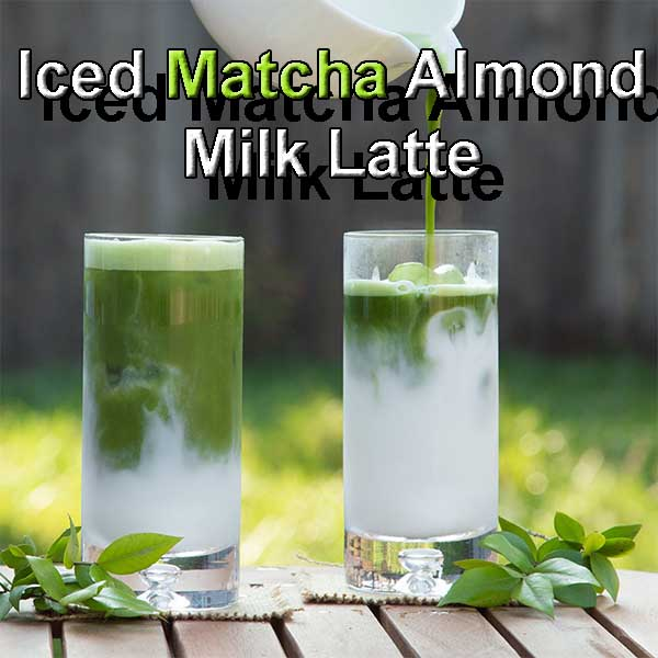 Iced Matcha Almond Milk Latte