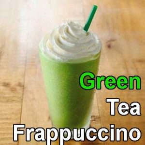 DIY green tea frappuccino