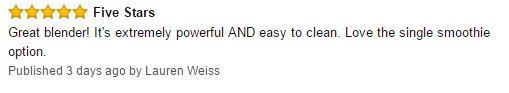 Ninja Professional Blender NJ600 customer reviews