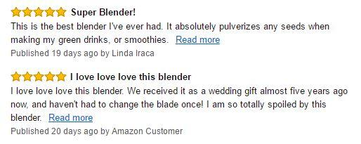 Vitamix 5200 Blender Customer Reviews