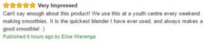 CleanBlend Customer Review