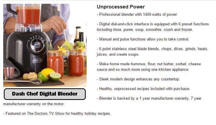 Dash Chef Digital Blender