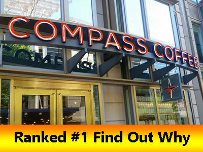 Compass coffee ranked the best coffee shop in Washington