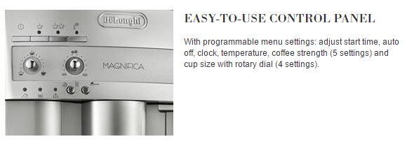 Delonghi Home office espresso machine easy to use control