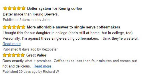 Mr. Coffee Single Serve Coffee Brewer Customer Reviews