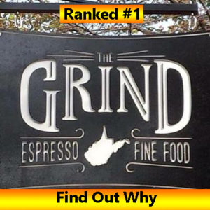 The Grind ranked the best coffee shop in West Virginia