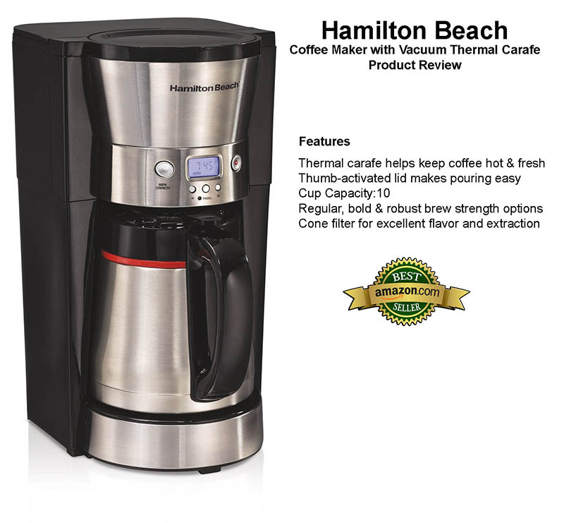 Hamilton Beach 10 Cup Coffee Maker with Vacuum Thermal Carafe Review