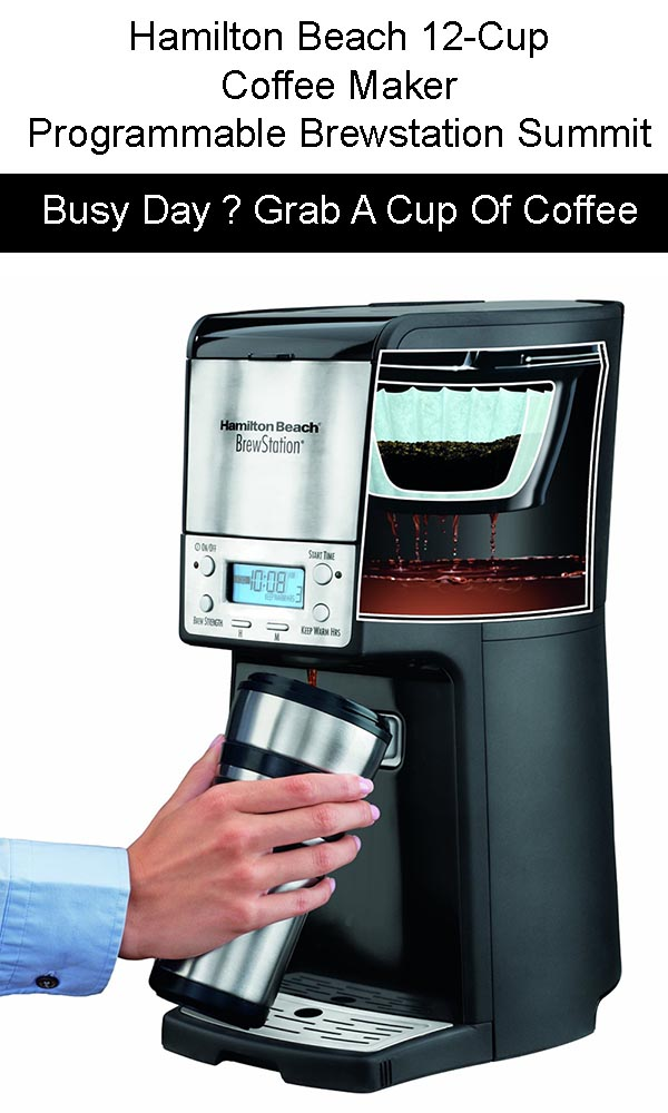 Hamilton Beach 12 Cup Coffee Maker, Programmable Brewstation Summit Dispensing Coffee Machine for sale