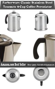 Farberware Classic Stainless Steel Yosemite 8 Cup Coffee Percolator