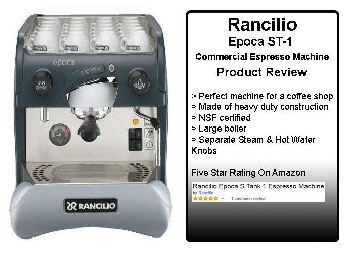 Rancilio Epoca ST-1 Commercial Espresso Machine Review