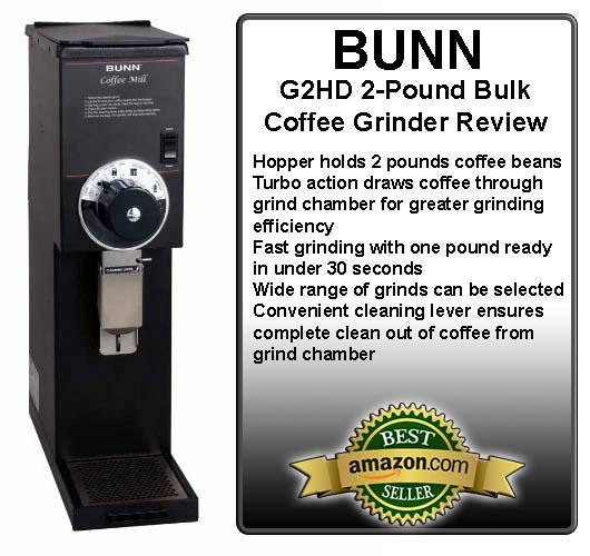 BUNN G2HD 2-Pound Bulk Coffee Grinder Review