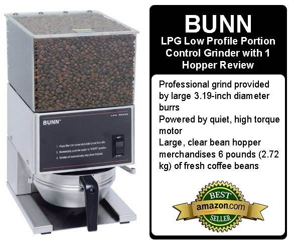BUNN LPG Low Profile Portion Control Grinder with 1 Hopper Review