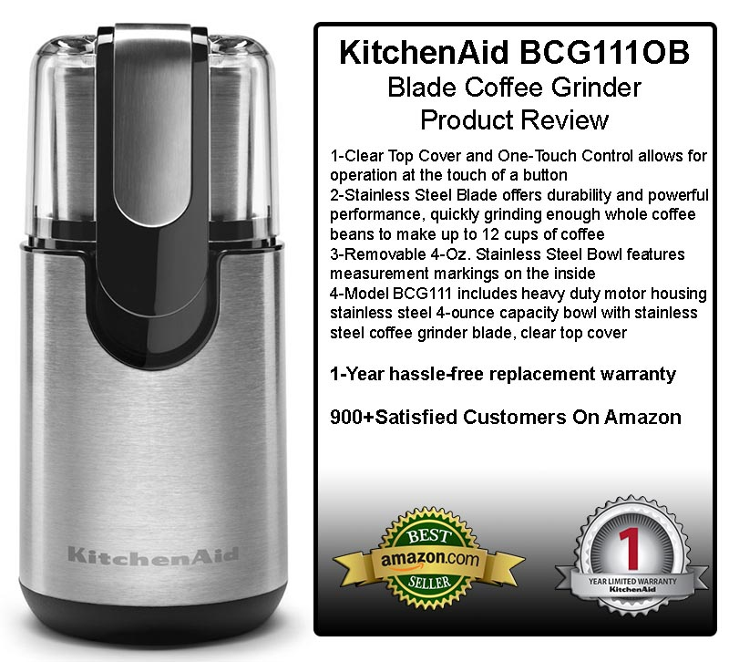 Blade Coffee Grinder ~ Kitchenaid bcg ob blade coffee grinder review