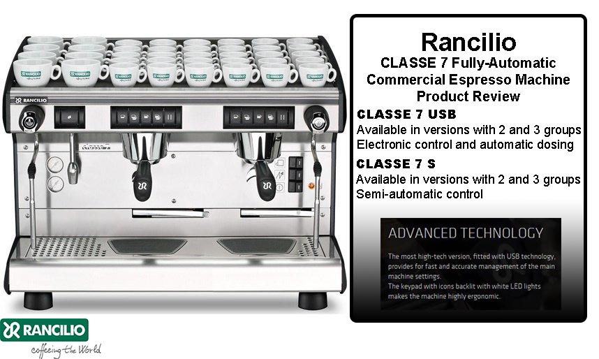 rancilio classe 7 fully automatic commercial espresso. Black Bedroom Furniture Sets. Home Design Ideas