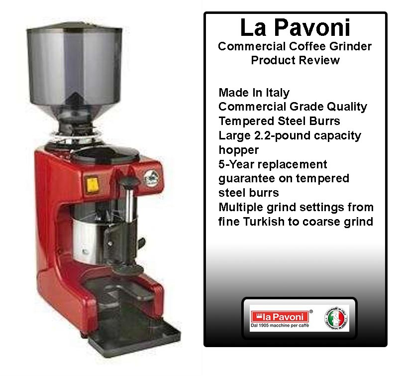 La Pavoni Commercial Coffee Grinder Review