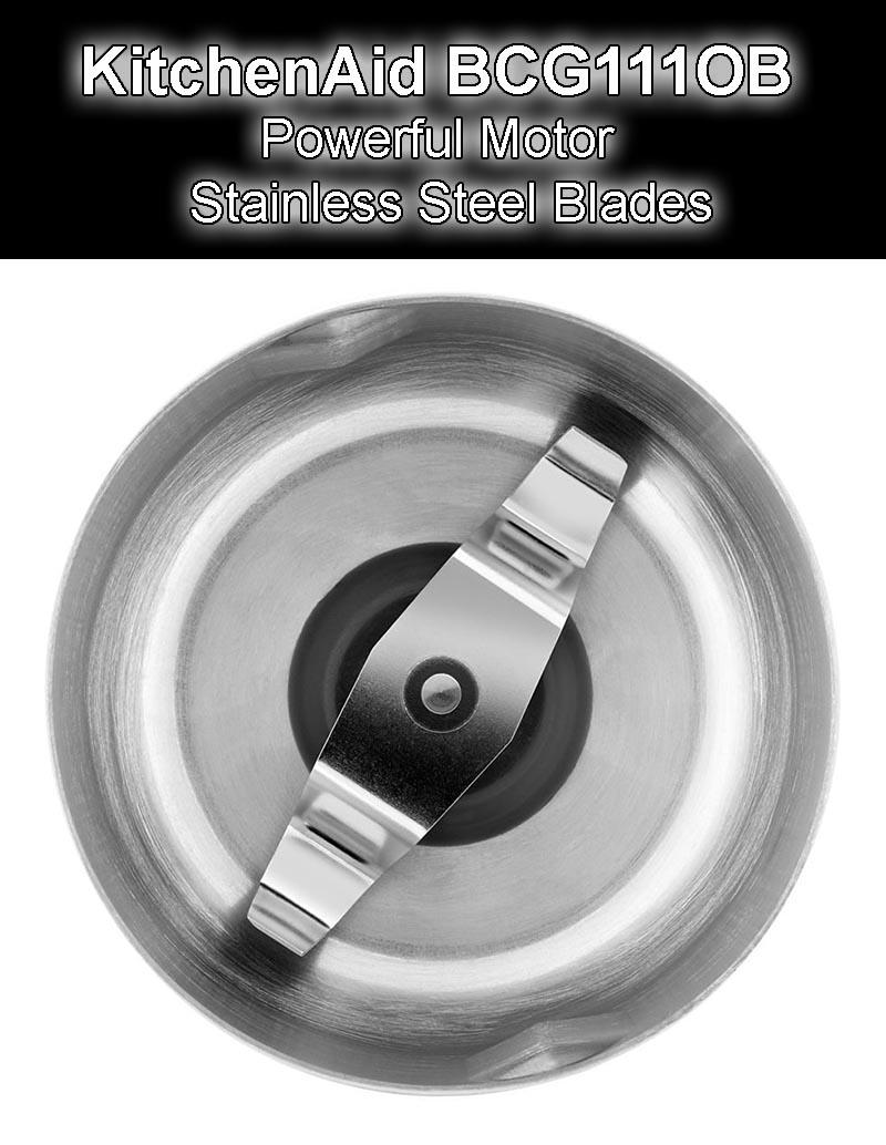 KitchenAid BCG111OB - Powerful Motor & Stainless Steel Blades