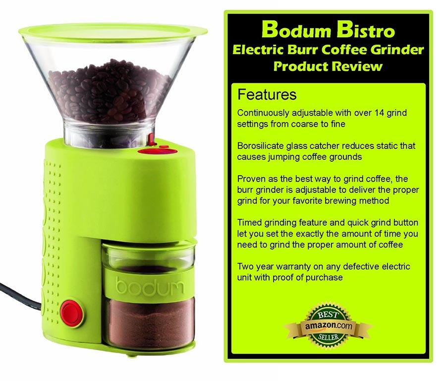 Bodum Bistro Electric Burr Coffee Grinder Review