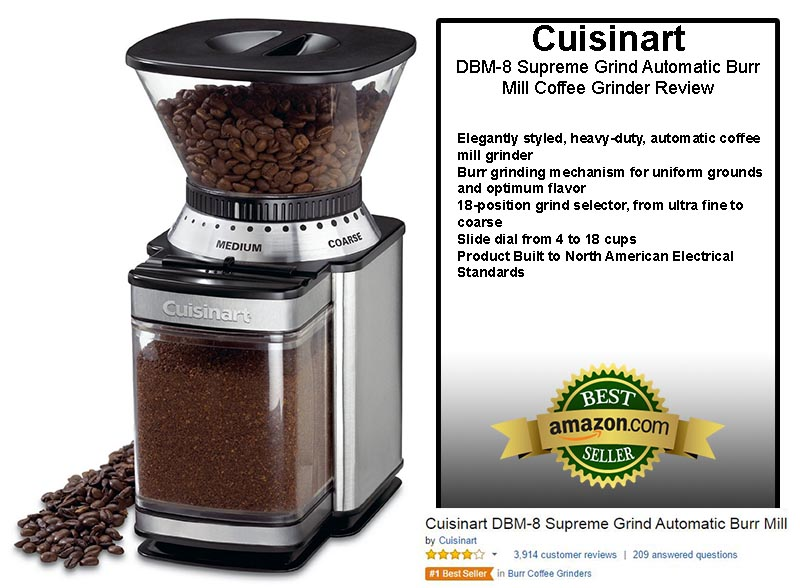 Cuisinart DBM-8 Supreme Grind Automatic Burr Mill Coffee Grinder Review