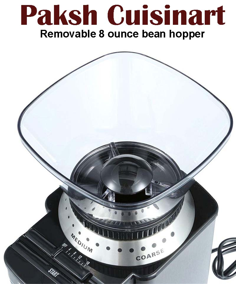 cuisinart DBM-8 automatic coffee grinder coffee bean hopper