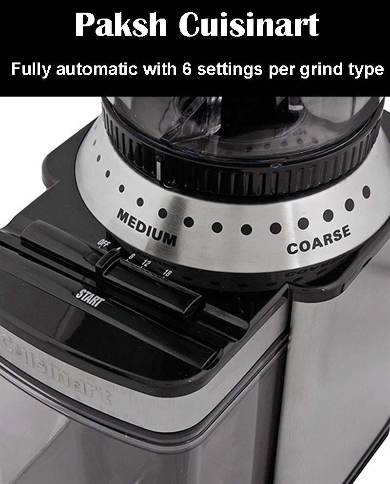 Paksh Cuisinart DBM-8 Supreme Automatic Burr Mill Coffee Grinder