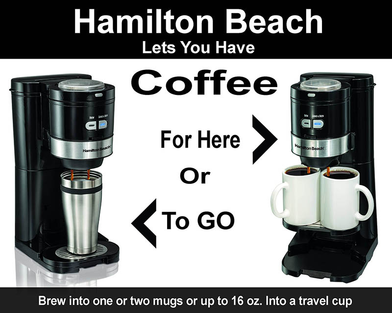Hamilton Beach Coffee Maker Grind And Brew Single Serve options