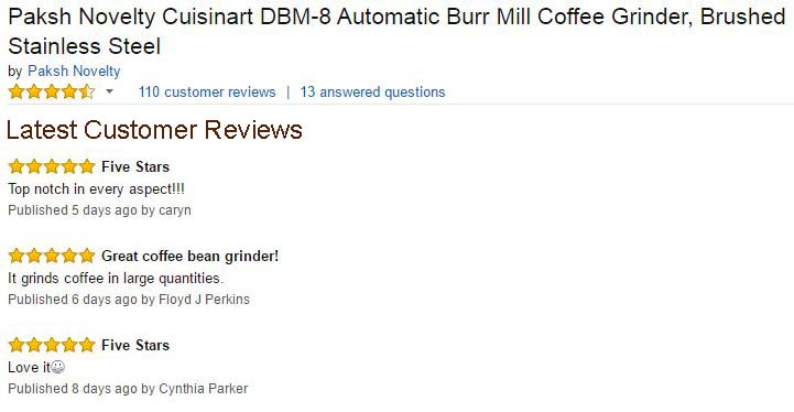 Paksh Cuisinart Dbm 8 Supreme Automatic Burr Mill Coffee