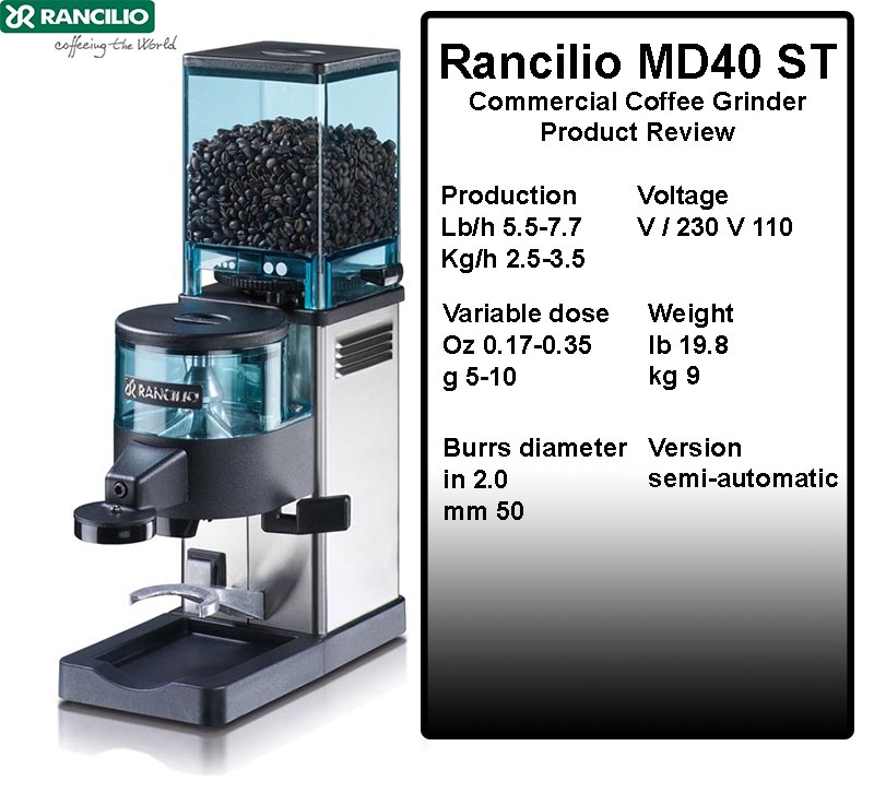 Rancilio MD40 ST Commercial Coffee Grinder Review