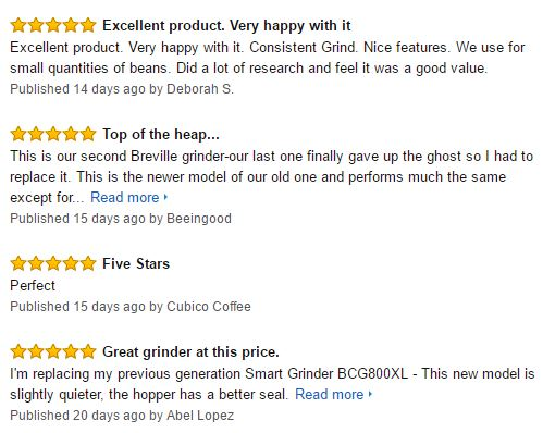 Breville The Smart Coffee Grinder Pro Customer Reviews