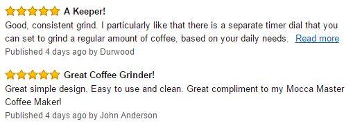 Bodum Bistro Coffee Grinder Customer Reviews