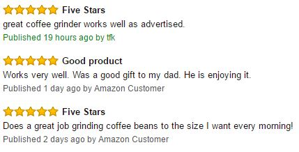Hamilton Beach 80365 Custom Grind Hands-Free Platinum Coffee Grinder Customer Reviews