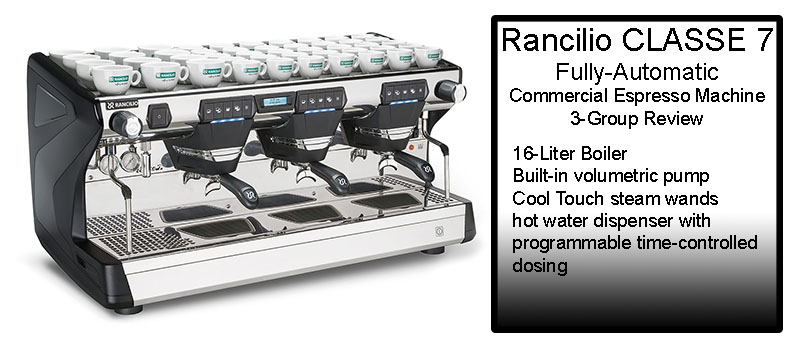 Rancilio CLASSE 7 Fully-Automatic Commercial Espresso Machine 3-Group Review