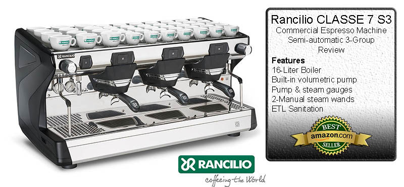 Rancilio CLASSE 7 S3 Commercial Espresso Machine Semi-automatic 3-Group Review