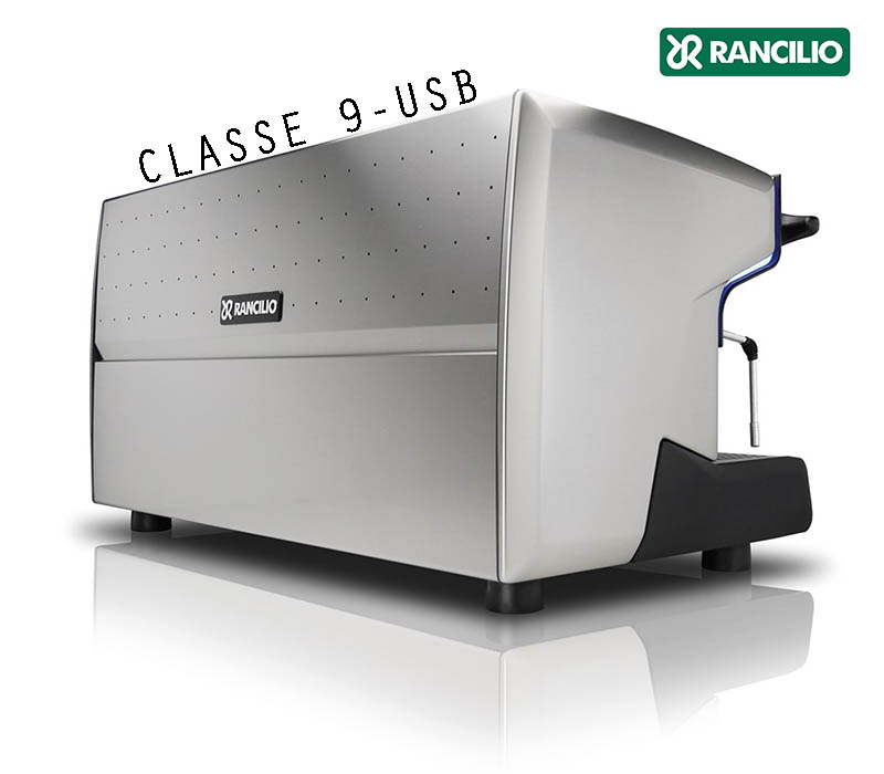 Rancilio CLASSE 9 USB 3 group back angle view