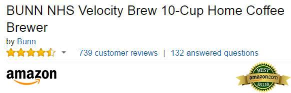 BUNN NHS Velocity Coffee Brewer