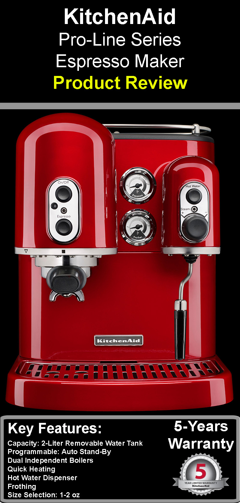 Hervorragend Kitchen Aid Pro Line Series Espresso Maker: Product Review