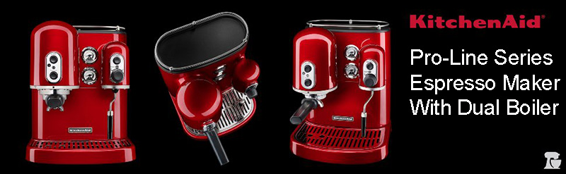 Always Running Late? No Problem KitchenAid Pro Line Series Espresso Maker Has You Covered, With It's Dual Boiler Capability.