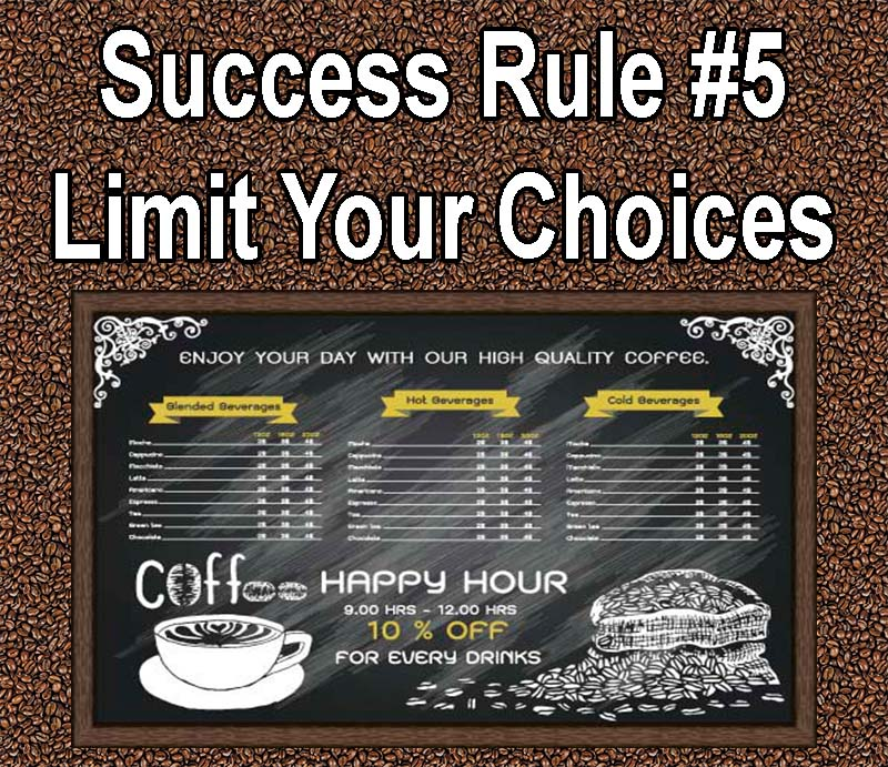 Tips for Making Your Coffee Shop a Success limit your choices