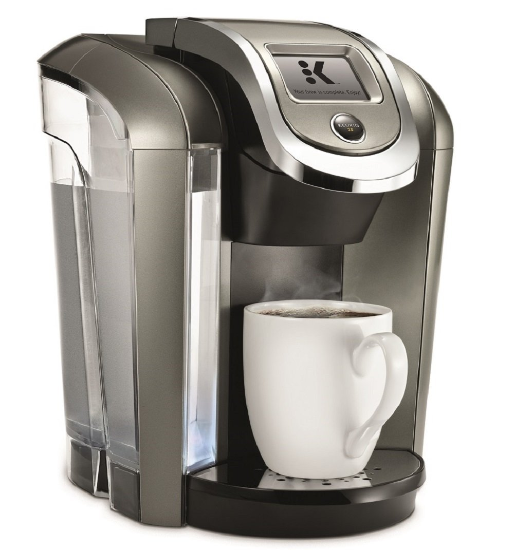 Keurig K575 Single Serve Programmable K-Cup Coffee Maker with 12 oz Brew Size and Hot Water on ...