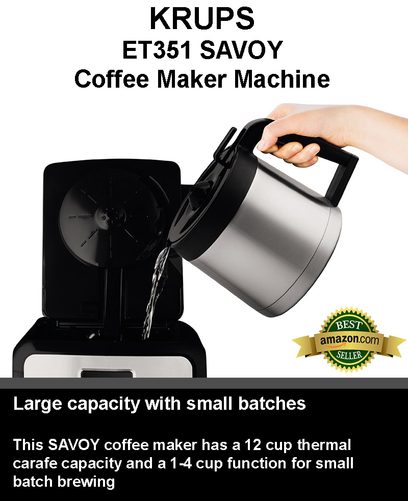 KRUPS ET351 SAVOY: Brew Up To 12 Cups