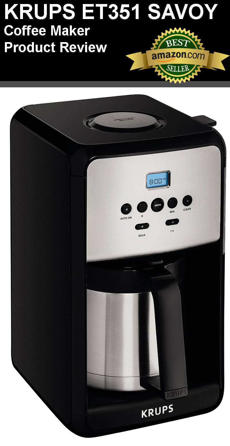 Krups Coffee Maker Reviews Ratings : KRUPS ET351 SAVOY Coffee Maker Review