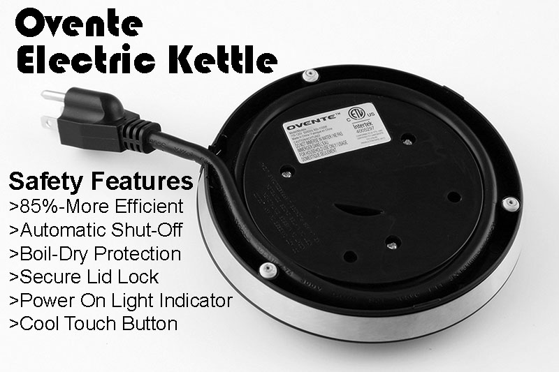Ovente Electric Kettle - Safety Assured