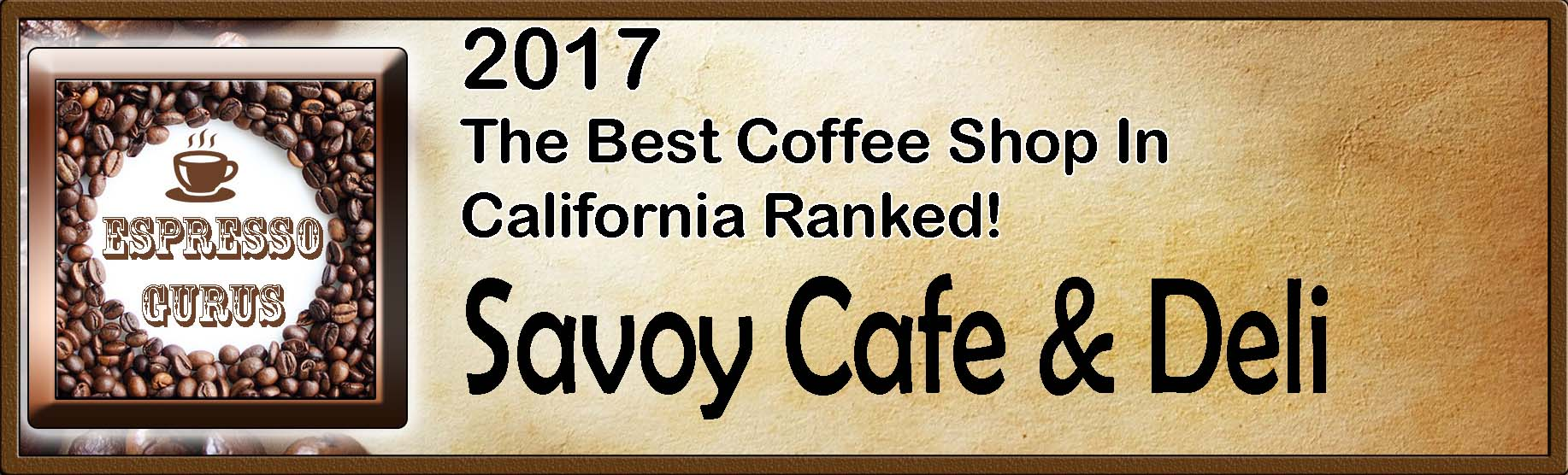 The Best Coffee Shop In California Ranked - 2017