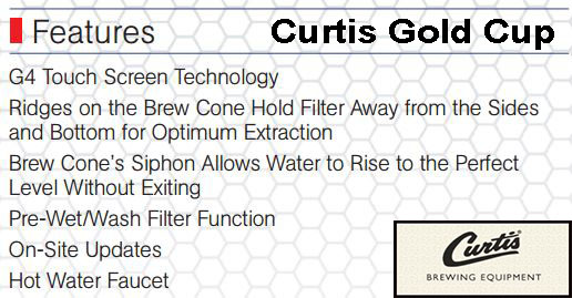 Wilbur Curtis Gold Cup Single Cup Brewer: Design