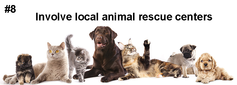 8# Invite animal rescue centers to your coffee house grand opening