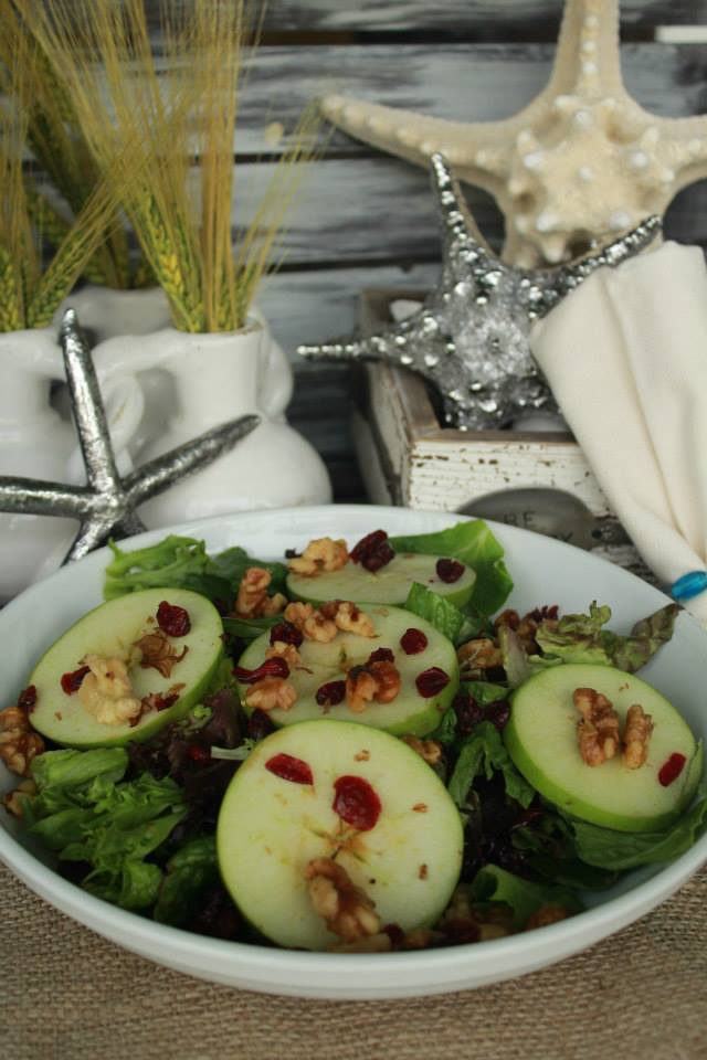 The Southern Grind Coffee House apple walnut salad
