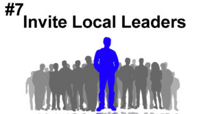 7# Invite local leaders to your coffee house grand opening