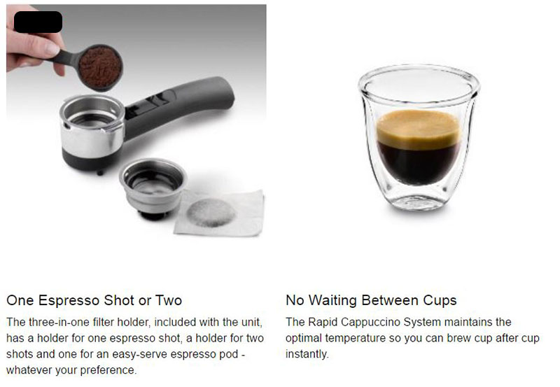 DeLonghi EC155: Brew Single Or Double Espresso Shots