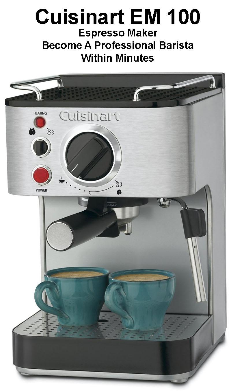 Cuisinart Coffee Maker Cleaning Light : Cuisinart EM 100 Espresso Maker Review