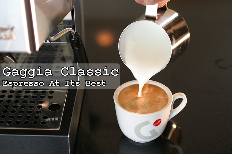 Gaggia Classic: Brass Portafilter & Stainless Steel Housing