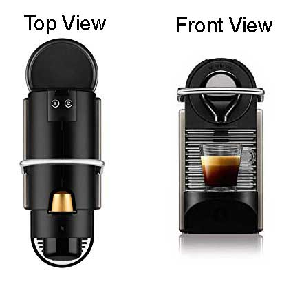 Nespresso Machine top and front views
